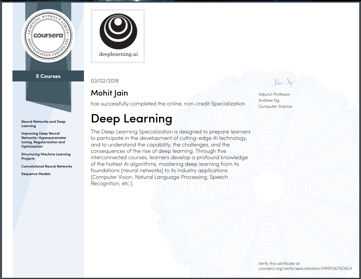 My thoughts on the Deep Learning Specialization on Coursera