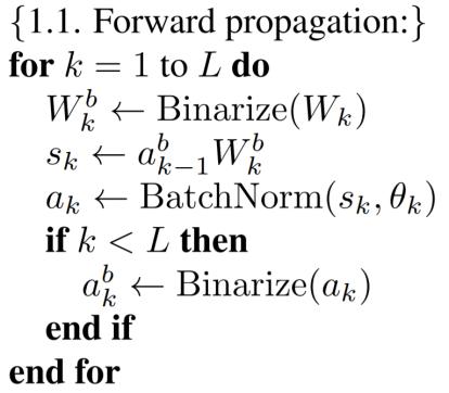 BNN Forward Propagation